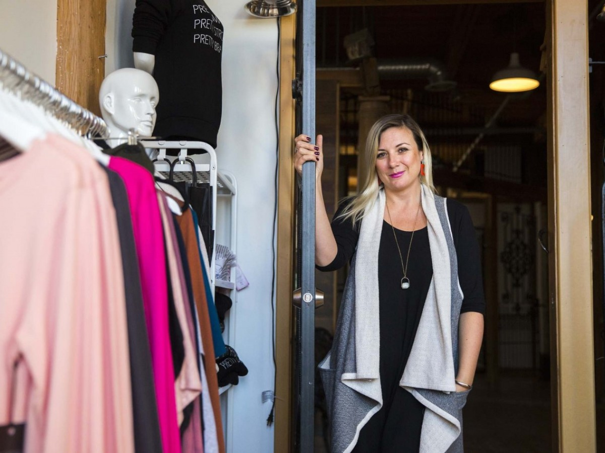 Support is big for small business - Sarah Sue Design's private showroom in the ARTlington art studios (photo: Mikaela Mackenzie)