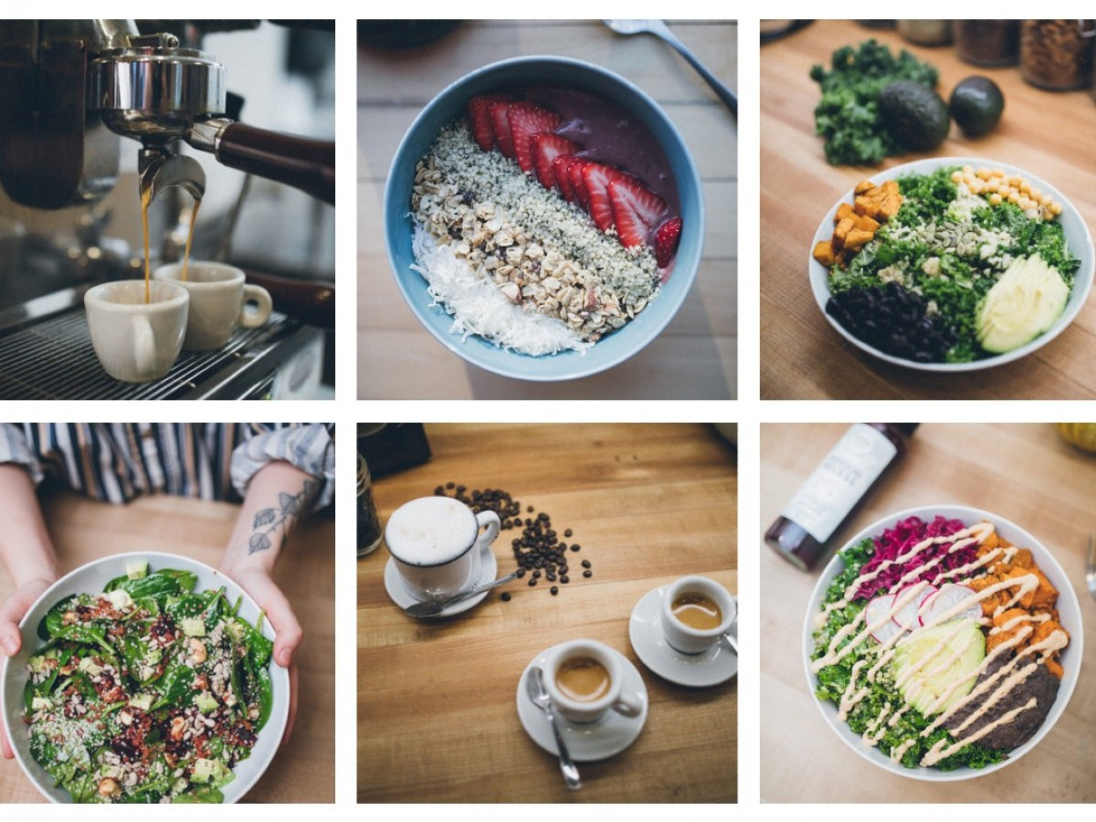 4 healthy (and namely vegetarian) takeout suggestions for week 7  - A selection of dishes from Verde Juice Bar (image courtesy of Verde Juice Bar)