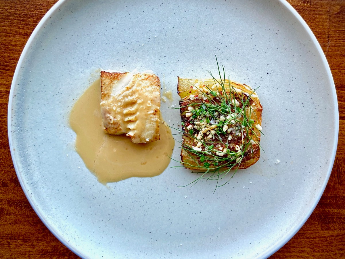 Winnipeg's most acclaimed dining rooms are now open (or will be soon) - Roast sablefish, seared fennel, herbs, sauce vin jaune, on special this week at Enoteca (photo courtesy of Enoteca)