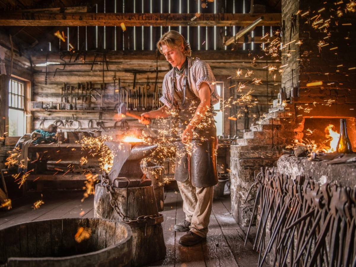 Parks Canada Manitoba's historical cast is back at Lower Fort Garry - Book a tour and see the blacksmith in action at Lower Fort Garry (photo courtesy of Parks Canada Manitoba)