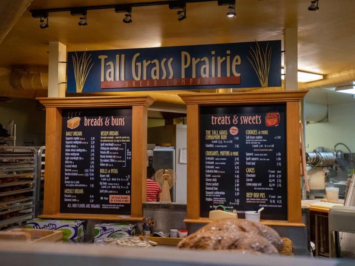 Tall Grass Prairie: Harvesting a story 30 years in the making - Tall Grass Prairie's menu board at The Forks Market. The original Wolseley location recently celebrated 30 years (Tyler Walsh)