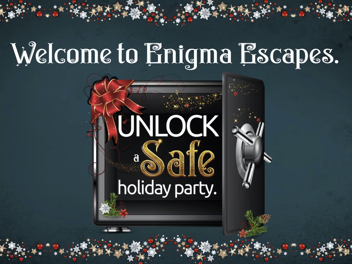 Eight virtual office holiday party ideas to try this year  - Enigma Escapes has turned their holiday-themed puzzles and team challenges virtual for you and your friends.