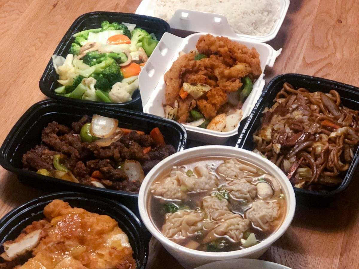 Lucky Koi is a great catch for takeout and delivery on Portage  - A selection of takeout dishes from Lucky Koi