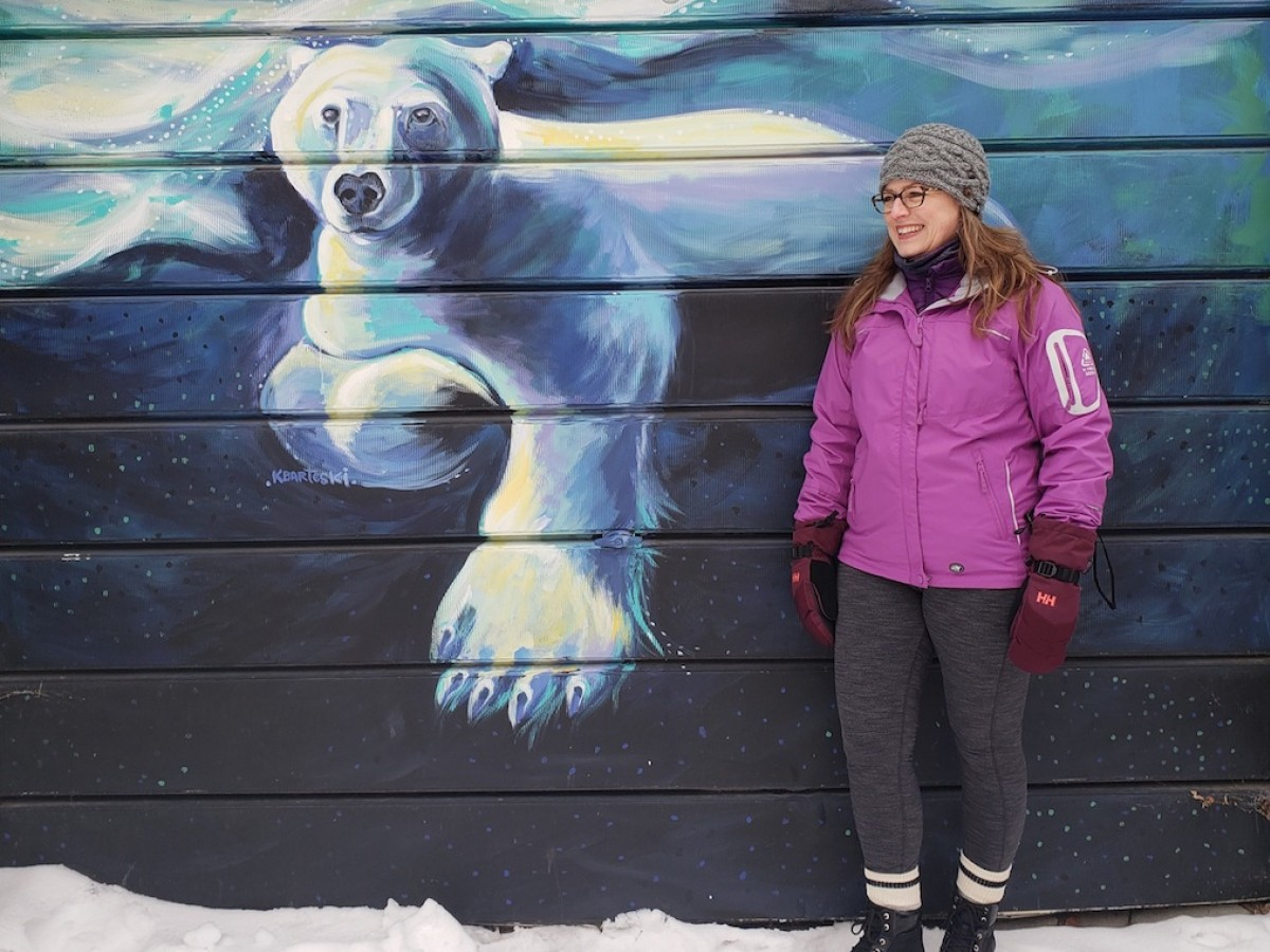 The snowbirds' guide to winter in Winnipeg  - Snowbirds are enjoying winter activities in Winnipeg this year, including Wolseley's Back Alley Arctic by artist Kal Barteski (photo: Gillian C)