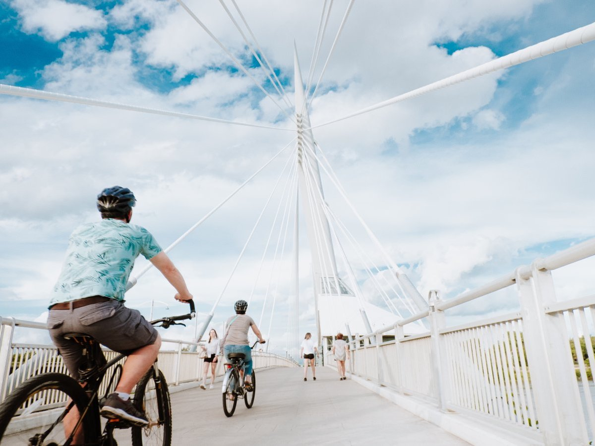 ​A Spring staycation, no matter your travel type - Explore downtown Winnipeg on two wheels! (Photo: Kristhine Guerrero)