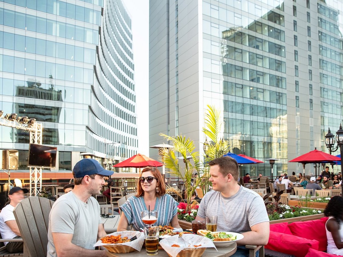 Our Winnipeg 2021 summer patio guide  - The Tavern United Downtown rooftop patio (Photo by Mike Peters)