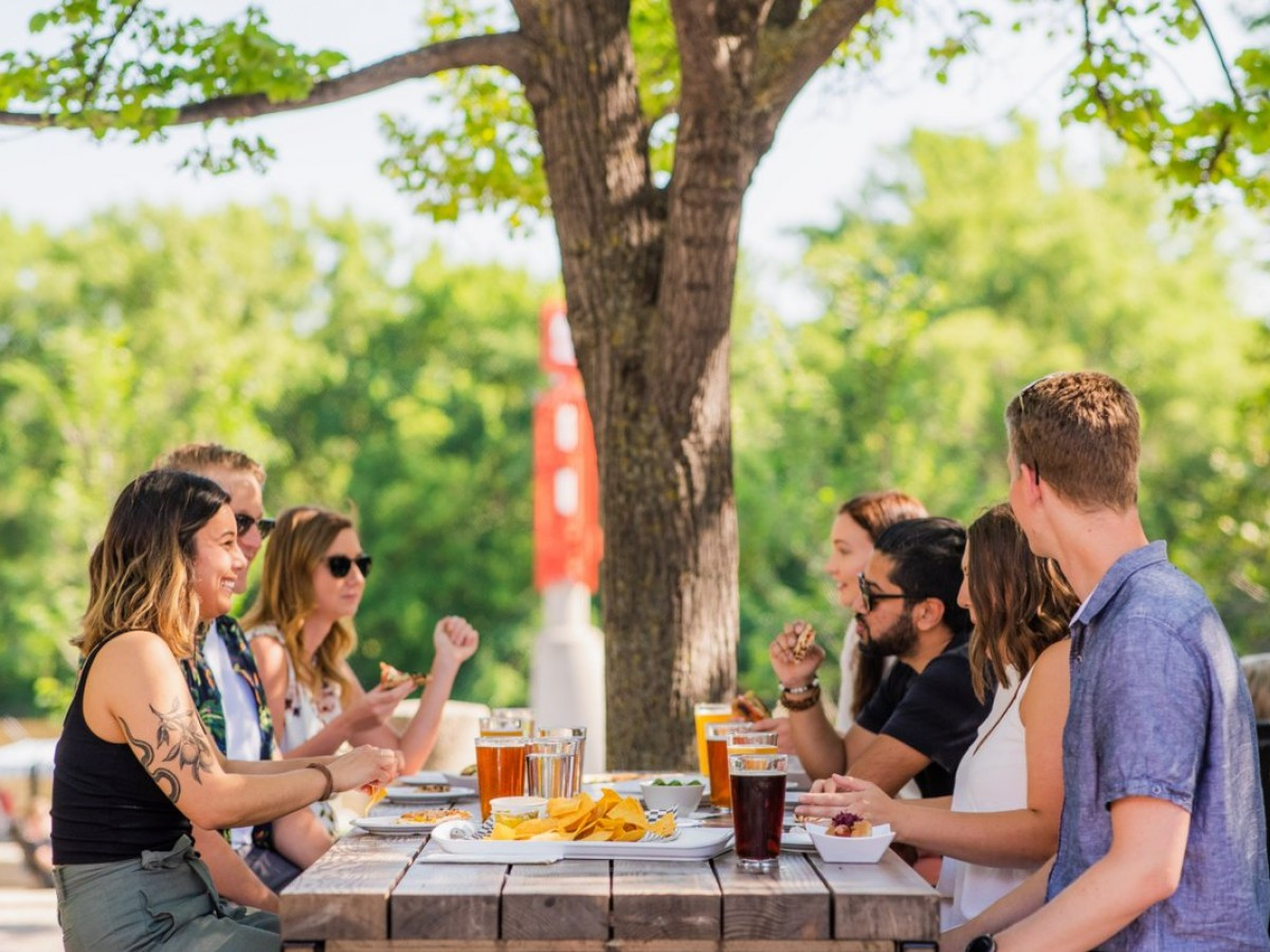 Flock to The Forks for beers, bites and sights  - Under the trees and alongside the river... you can't beat The Forks' patio (Mike Peters)