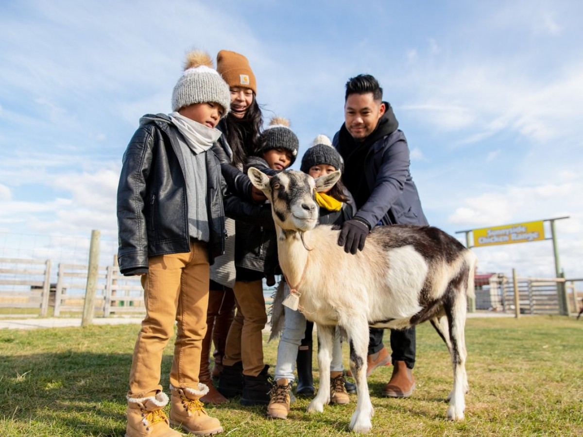 Four spots for fam jam farm fun this autumn in Winnipeg - Even the goats are all smiles at Deer Meadow Farms (photo by Mike Peters)