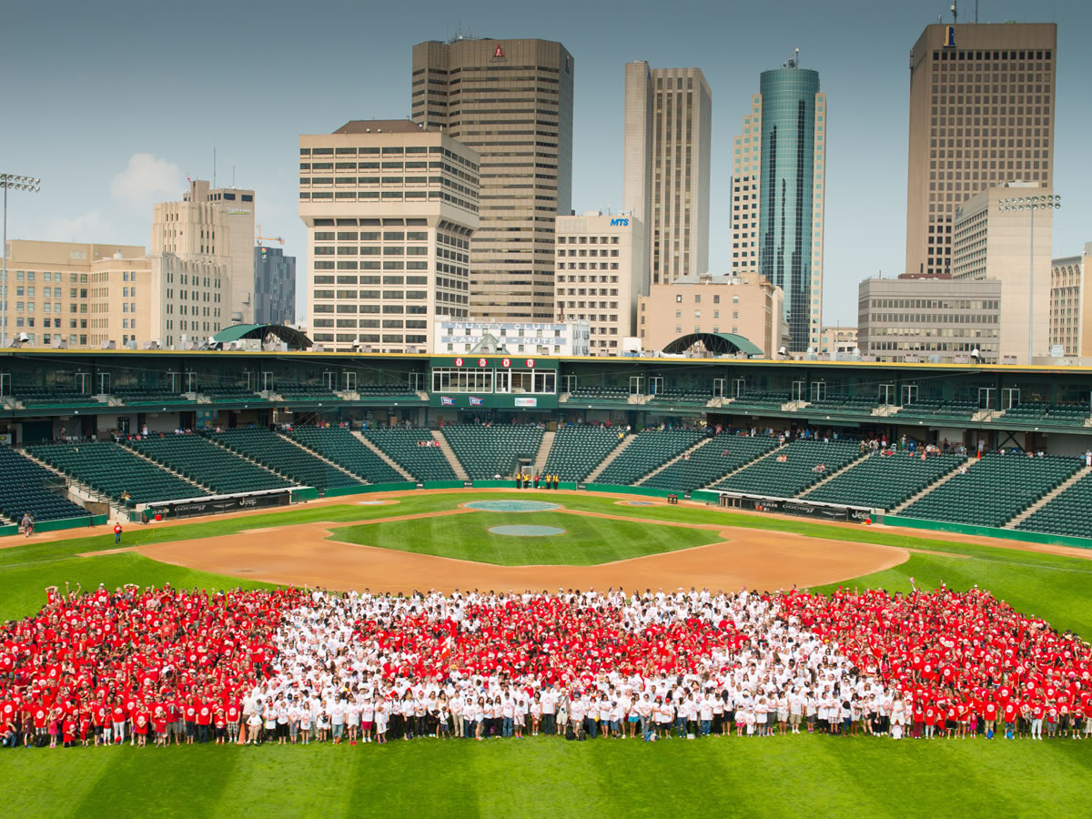 Canada Day 2016 in Winnipeg - Living Canada Flag 2015 - credit Dan Harper