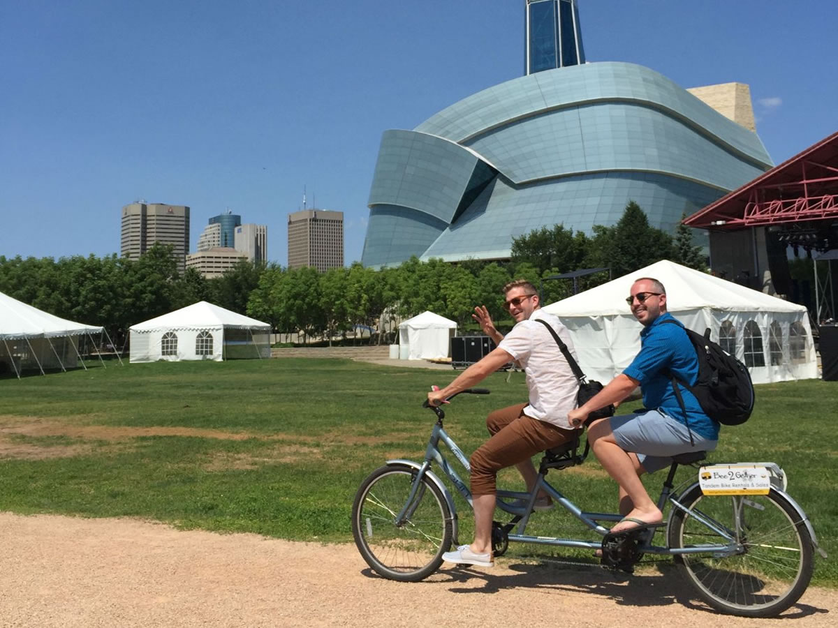 See the city in style with Winnipeg's chic bike companies - Bee2gether Mike & Dan