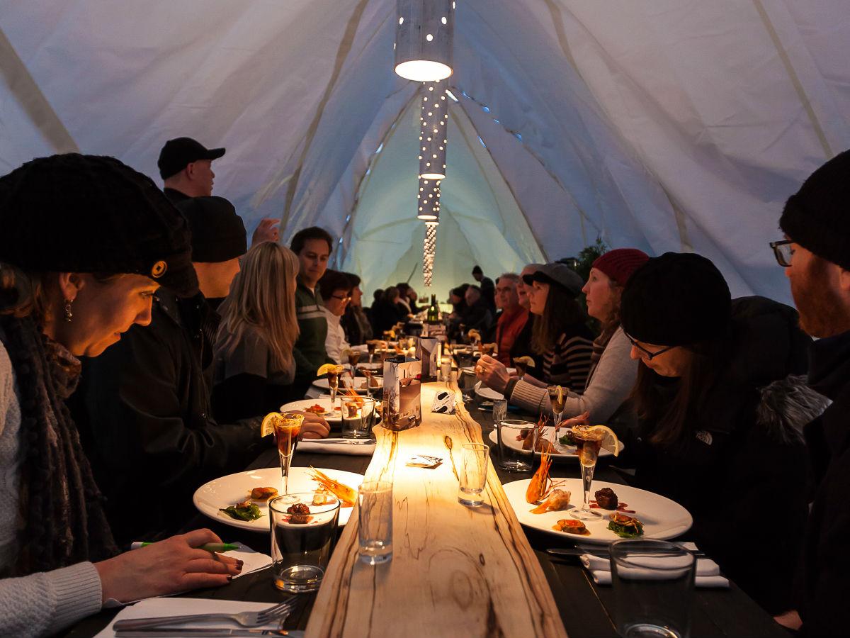 RAW: almond: Dinner on ice -