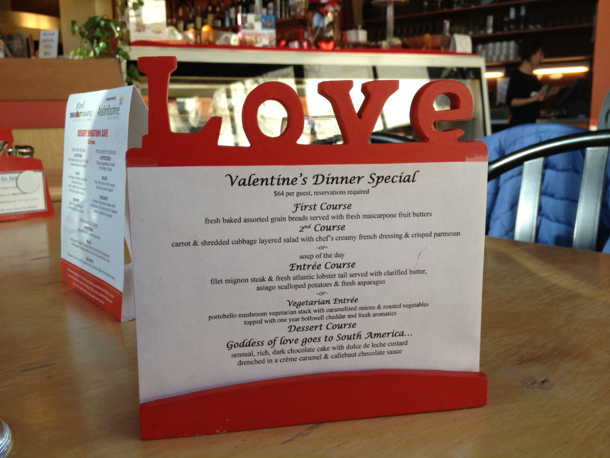 New & Notable: Dessert Sinsations' new menu - New Romantic menu for Valentines Day
