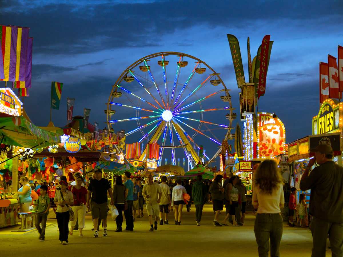 New & Noteable: Fun eats at the Red River Ex - Pathway through the middle of the festival at the Red River Ex