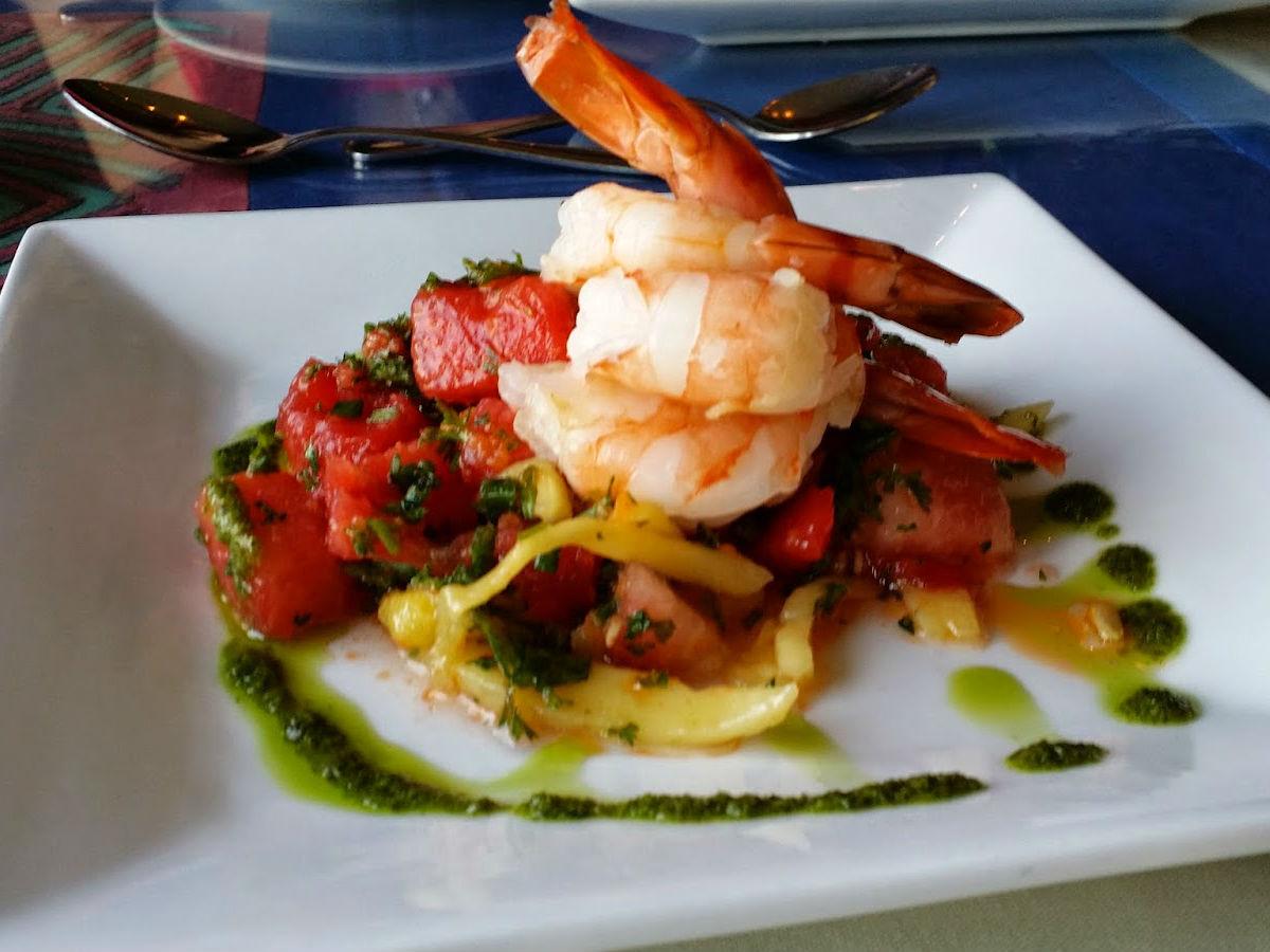 Review: Café Dario - Tomato pesto shrimp linguine