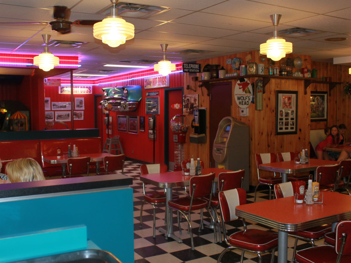 Review: Half Moon Drive-In - Interior of the Half Moon Drive-in