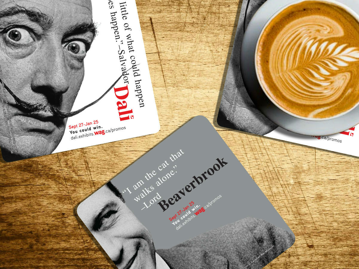 New & Noteable: Dine with Dali at WAG - Limited edition coaster set from the event