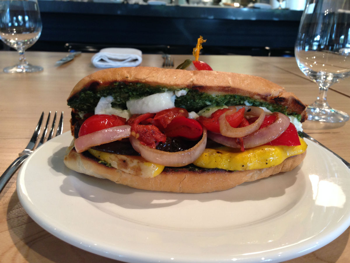 'Tis the Season at Era Bistro inside the CMHR - Roasted bell pepper, caramalized red onions, diced tomato, ciabatta