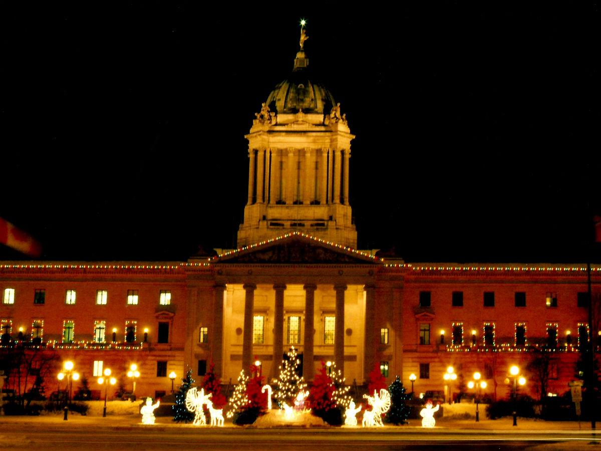 12 Days of Christmas: Winnipeg food version - Christmas outside of Manitoba's Legislature Building!