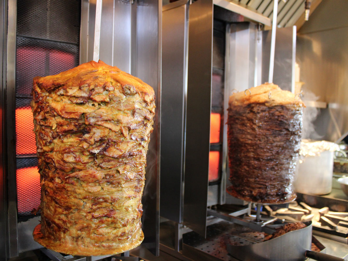 A wrap up of Winnipeg's best shawarma - The spits at Shawarma Khan before things start to get real exciting (PCG)