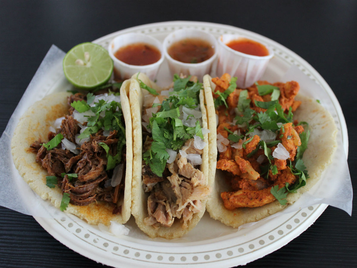Muy authentic tacos for poco prices at BMC Market - Three different, crafted to perfection, soft tacos. All varying in meats and spice, from hot to not, these taco's are worth a bite.