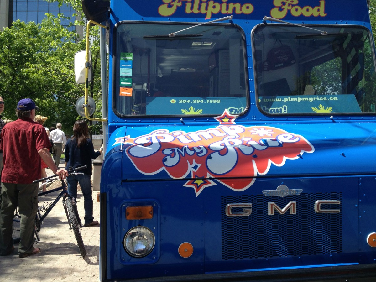 Food truck feasting at The Forks for the summer - The name of this truck says it all.