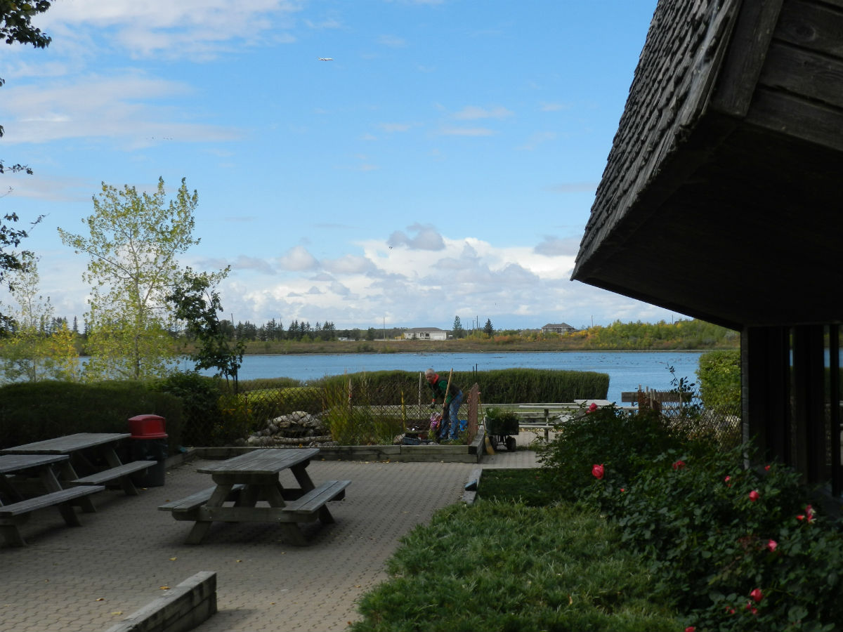 Winnipeg's best hidden gem patios - Fort Whyte Alive's serene patio experience.
