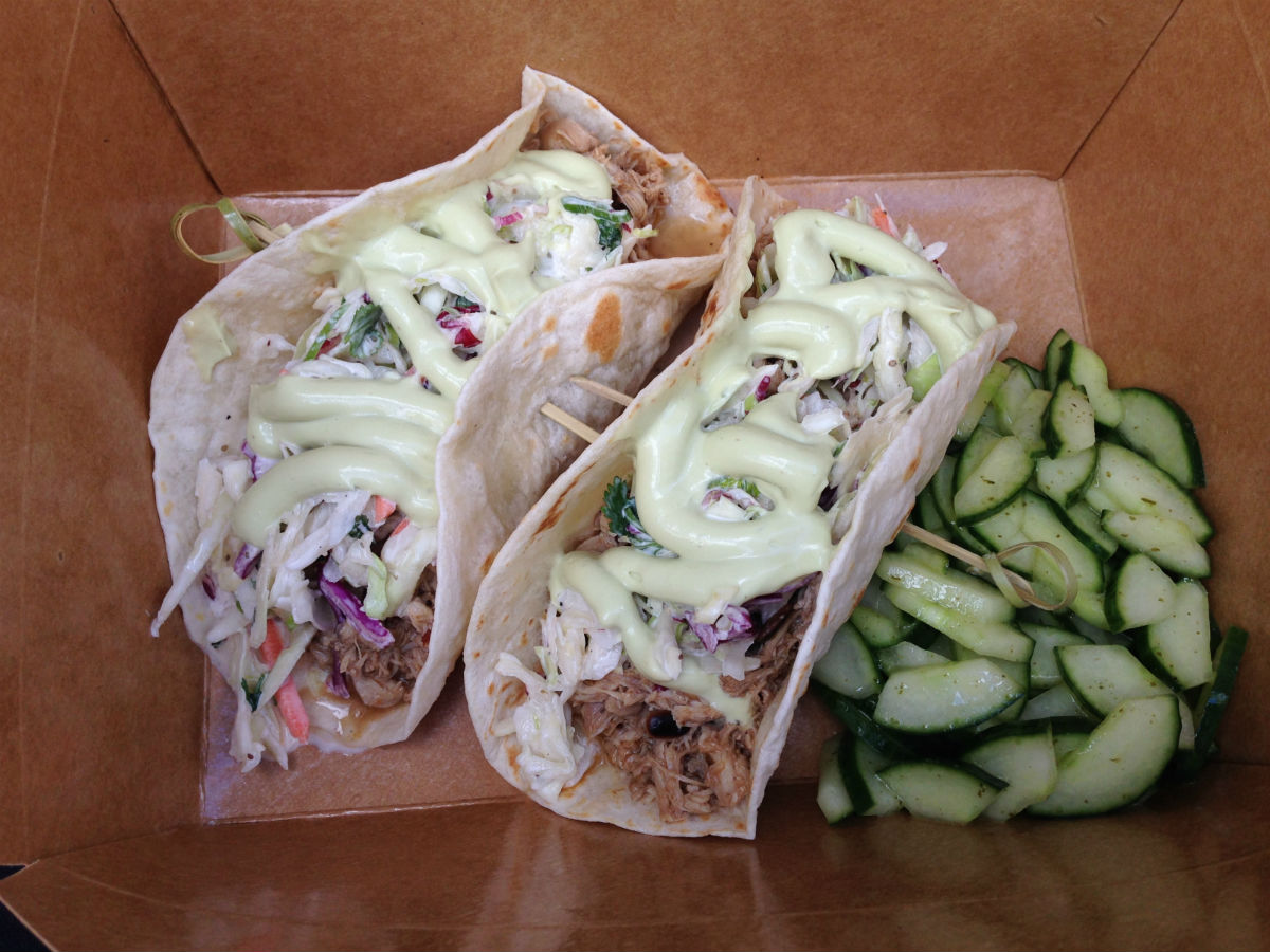 Eat this now: Taco Tuesdays behind The Fairmont - Get some napkins because these guys are too good eat cleanly.