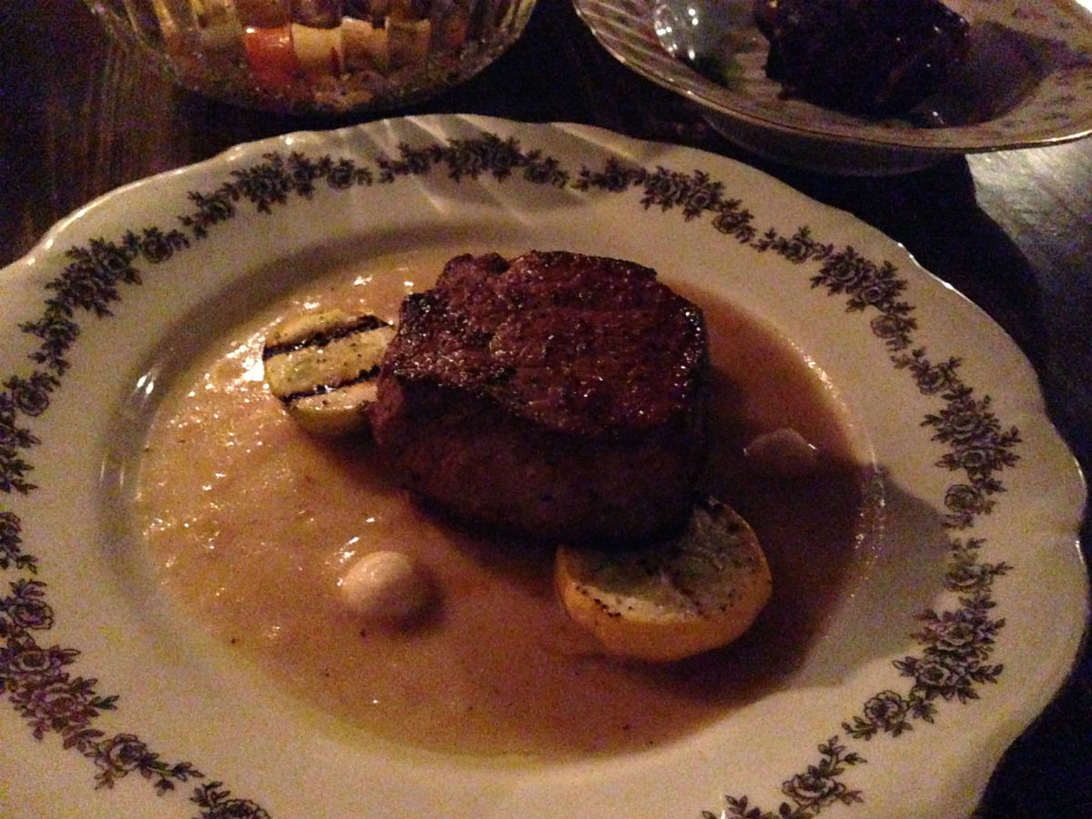 New & Notable: Sous Sol is worth going underground for - A beautiful beef cut, swimming in a deep white sauce