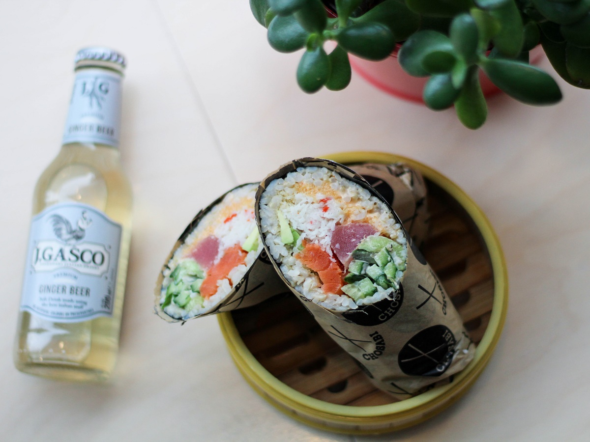 New & Notable: fresh openings and what's just around the corner for 2016 - fresh delicate tuna, crab,cucumber, avocado, spicy aioli and some panko crumbs added for extra crunch, all rolled up in a nori wrap to make a uniquely Japanese burrito.