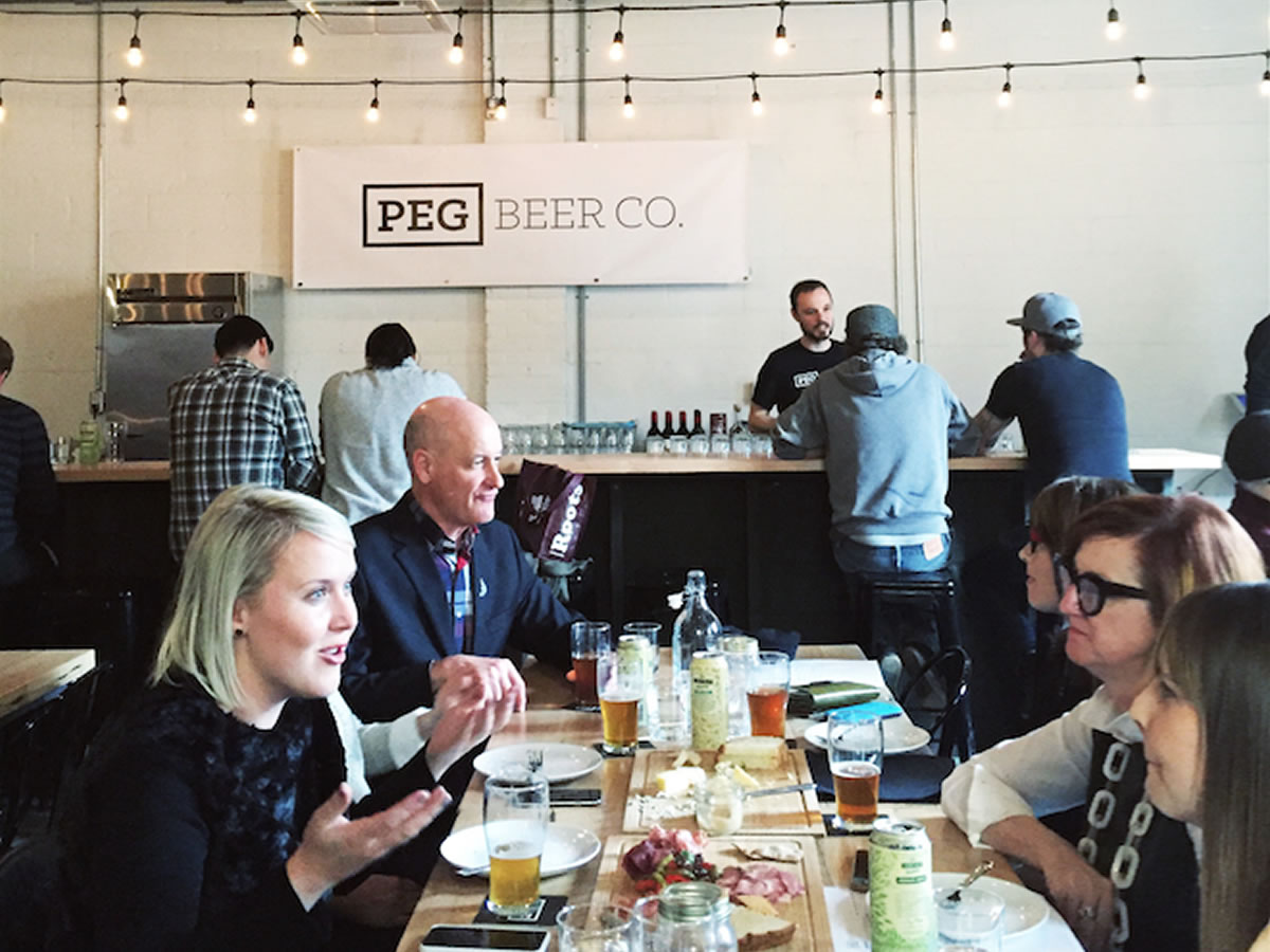 New & Notable (and almost open): beer, coffee, cocktails and a cozy spot - Peg Beer Co. - credit Kristin Pauls