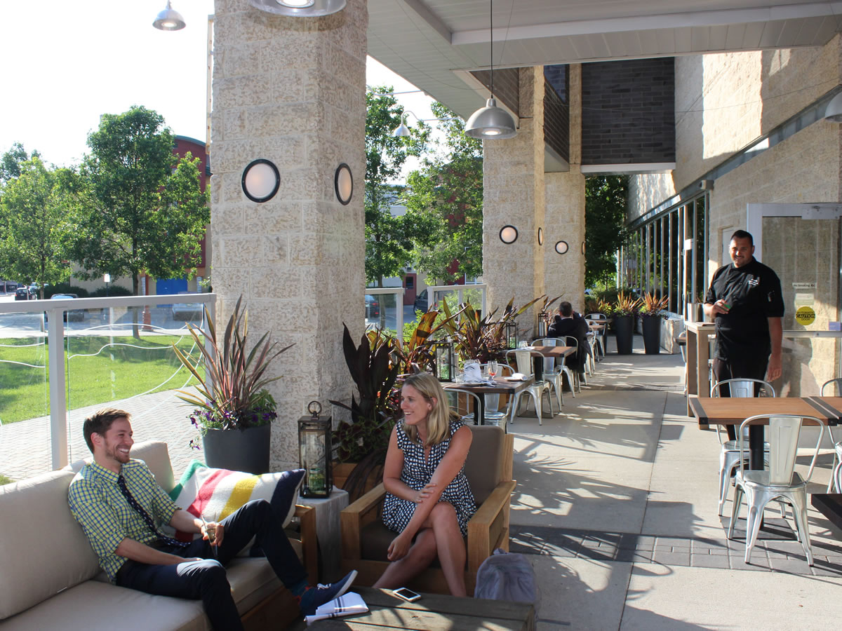 Did you know it has a patio? Winnipeg's newest (and lesser-known) patio places - SMITH Patio at Inn at the Forks