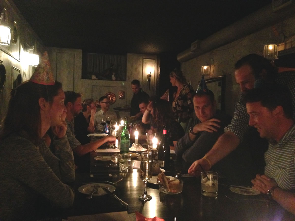 How to successfully eat your nine meals a day in Winnipeg - Dinner party at Sous Sol - credit PCG