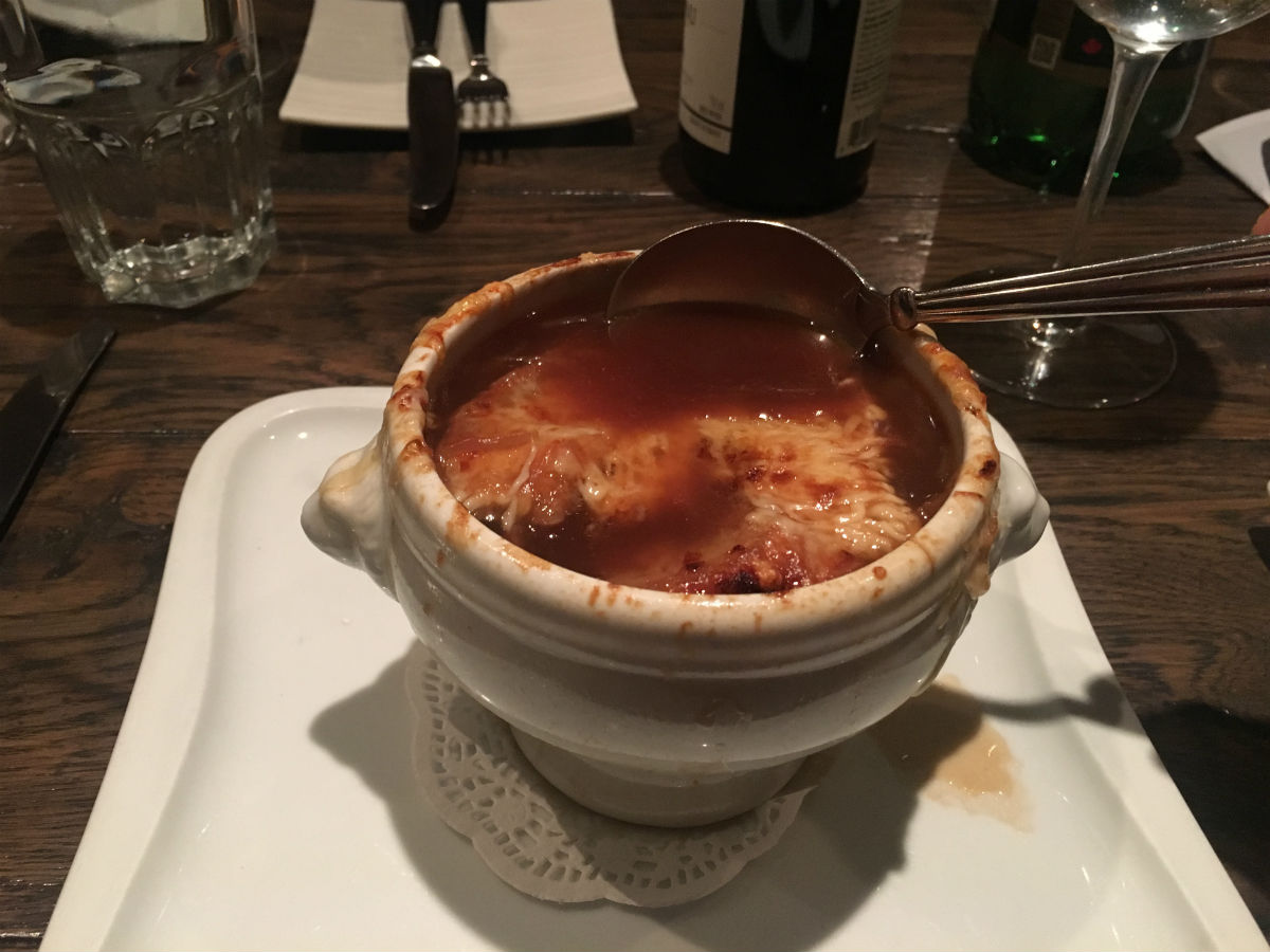 Cozy up to winter at Promenade Café and Wine - French Onion Soup $8 (PCG)