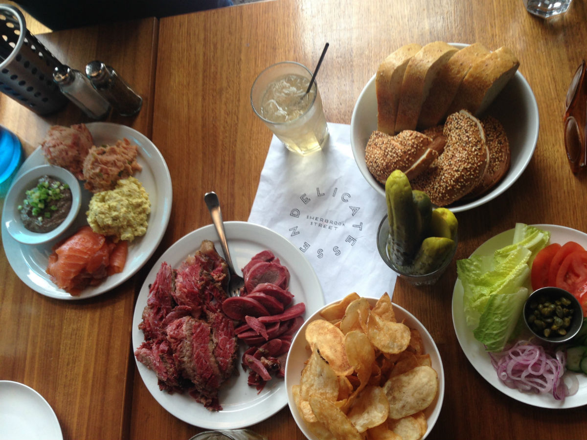 What's the best place for... Part three!  - A full deli spread at Sherbrook Street Delicatessen (PCG)