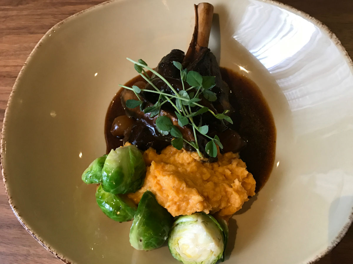 Blaze Restaurant and Lounge at the Delta is one of downtown's best kept secrets - Braised lamb shank (PCG)