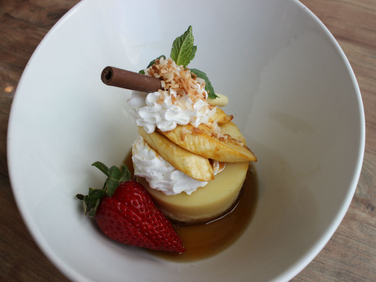 Winnipeg Art Gallery's FEAST pairs Picasso with the art of plating and an in-depth tour  - Banana-caramel custard topped with sherry and coconut (PCG)