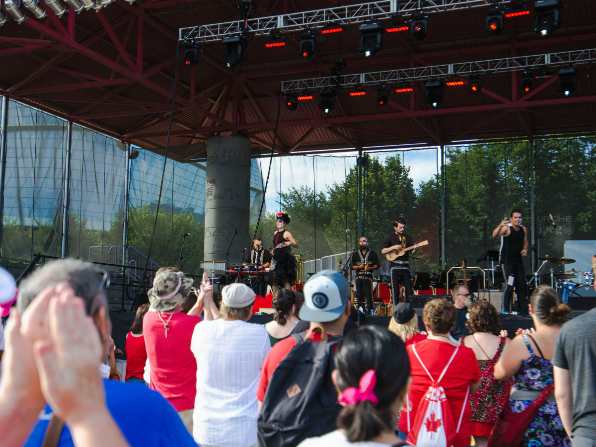 Winnipeg's Canada Day celebrations are going to be extra special as we celebrate the big 150 - Winnipeg's The Mariachi Ghost performing at The Forks during Canada Day 2016 (The Forks)