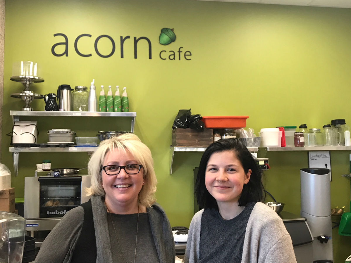 Vegans will venerate Generation Green and its Acorn Café… and all you omnivores and eat-local advocates will too - Generation Green owner Sherry Sobey and Acorn Cafe Manager Lily Thrift (PCG)