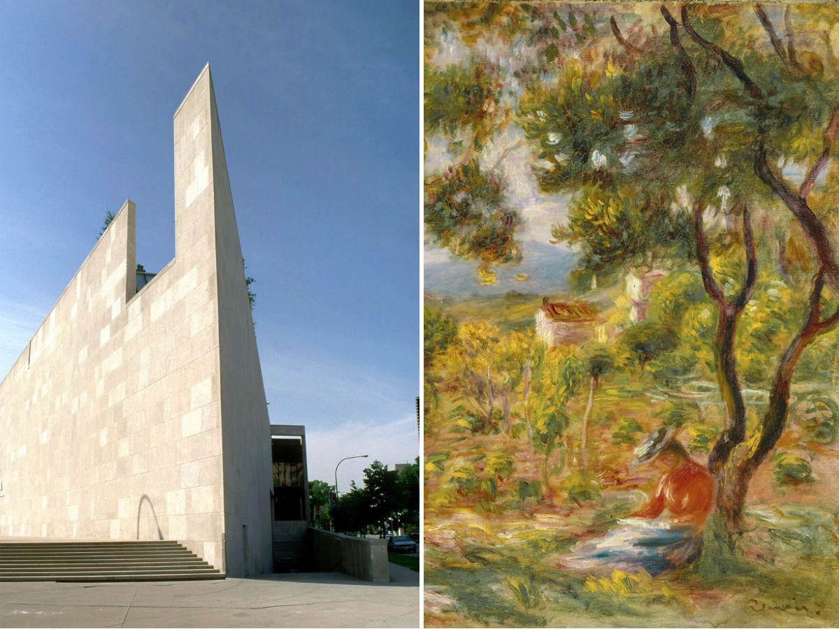 "Why WAG's ""Summer with the Impressionists"" will leave a big impression with audiences  - Exterior of the WAG (Brian Gould) alongside a detail of Pierre-Auguste Renoir's"
