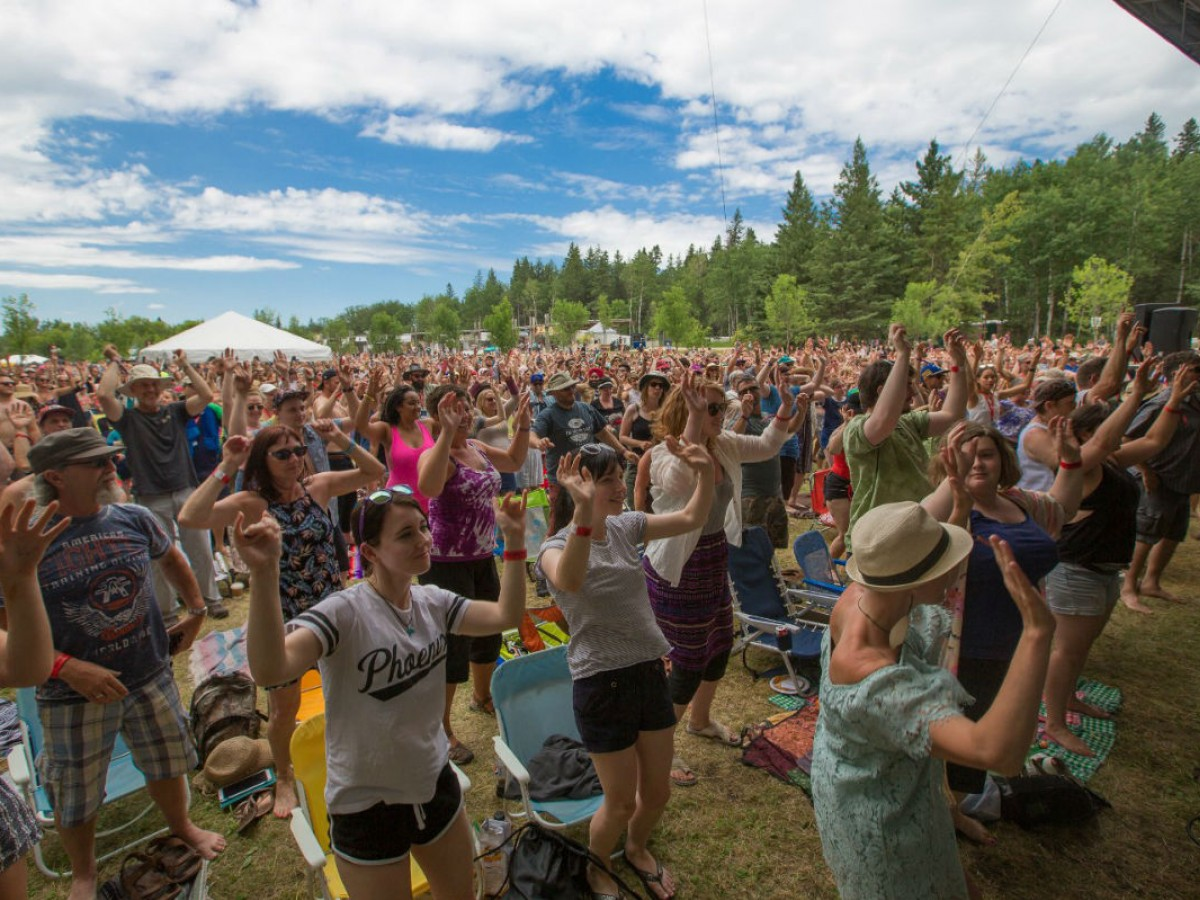 45 Years of Folk Fest Happy continues this July  - Can we get a show of hands from all of you that are #FolkFestHappy ? (photo by Joey Senft)