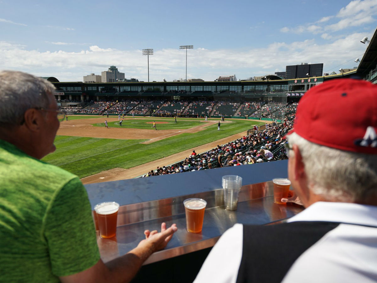 Goldeyes Baseball hits a home run with new Craft Beer Corner  - Sweet views and delicious local beers from Shaw Park's new Craft Beer Corner (Tyler Walsh)