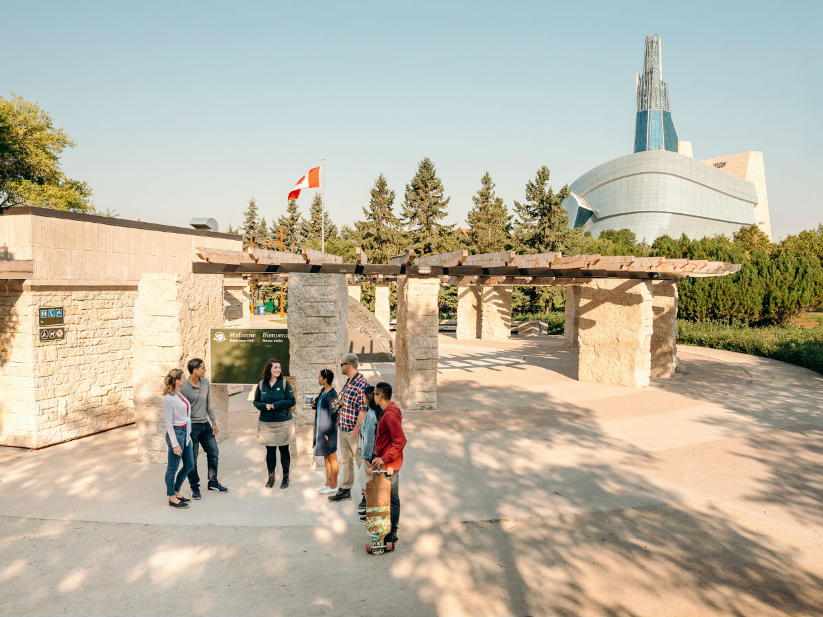 Parks Canada Winnipeg has all the historic adventures you are looking for this August - Visitors on the Parks Canada Winnipeg 6,000 years in 60 minutes tour (Parks Canada WPG)