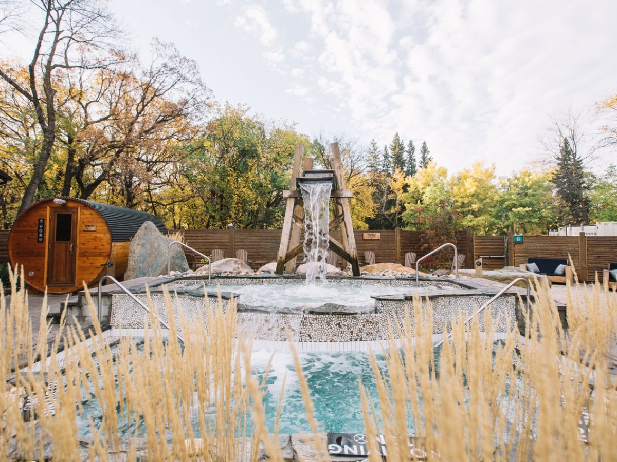 Rest and rejuvenate during Thermotherapy Month at Winnipeg's Thermëa - Thermëa's Iceber waterfall (Mike Peters)