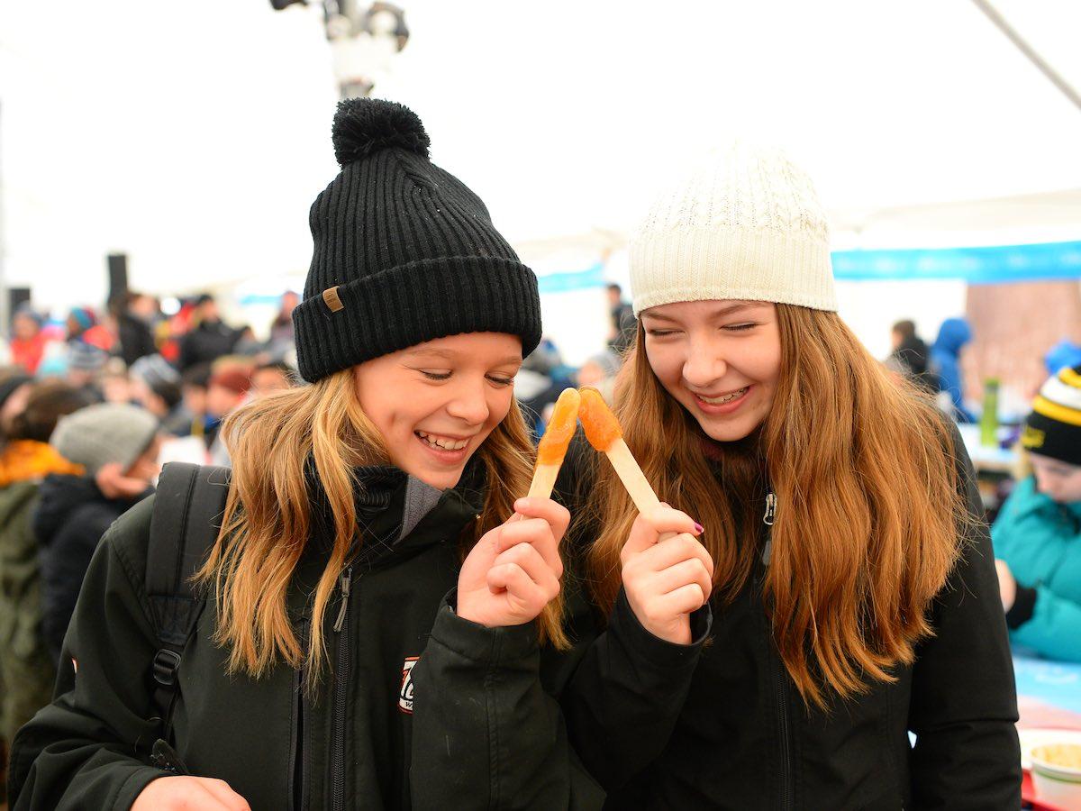 Top five things for teens to do in Winnipeg this winter - Grab a sweet taffy treat at Festival du Voyageur (Dan Harper)
