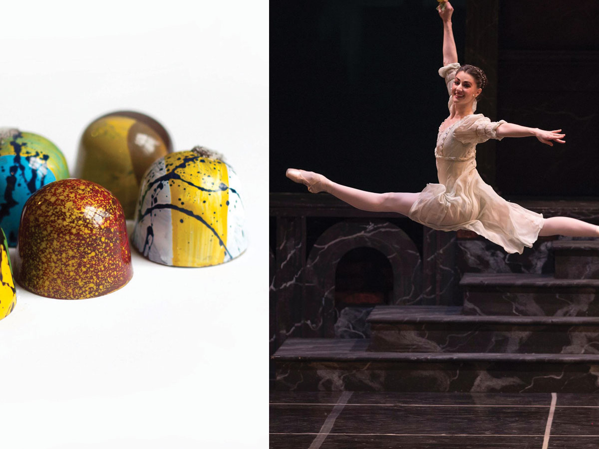 Former Royal Winnipeg Ballet dancer's chocolates taking centre stage - Former RWB dancer Amanda Green's chocolates and her on stage during Romeo and Juliet (ballet photo by David Cooper)
