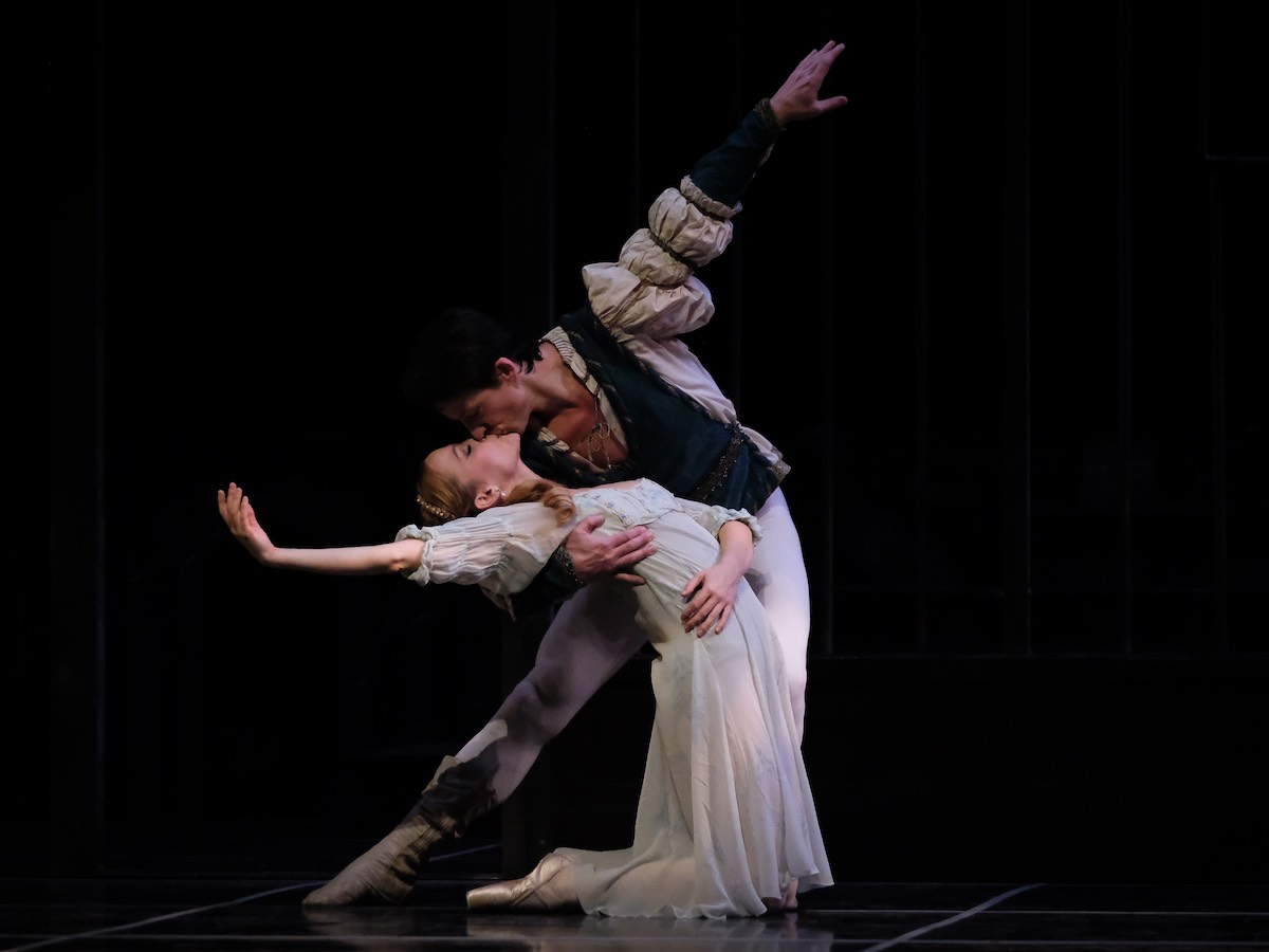 Review: love is in the air at the RWB's Romeo & Juliet - Dmitri Dovgoselets and Elizabeth Lamont; photo by Daniel Crump