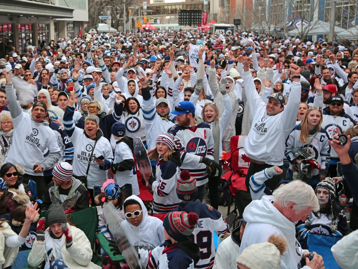 A St. Louis Blues fan's game day guide to Winnipeg - #WPGWhiteout Street Party (photo courtesy of the Winnipeg Jets)