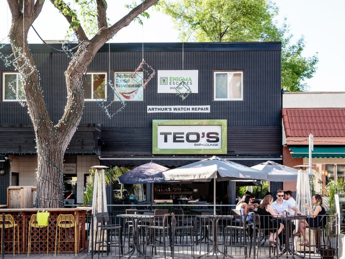Your new brunch spot on Corydon Avenue - Teo's popular patio on Corydon Avenue (photo by Mike Peters)