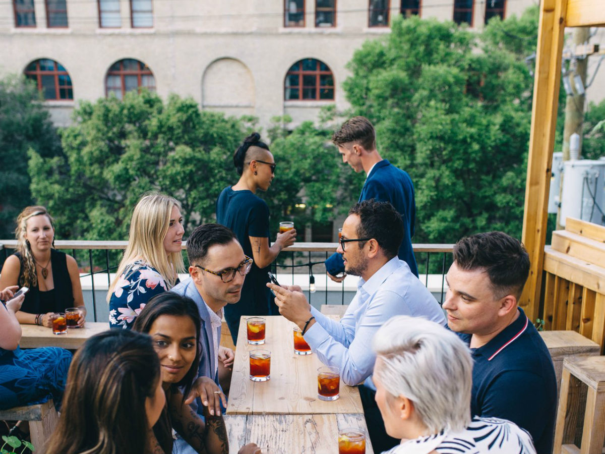 An extensive 2019 Winnipeg summer patio guide  - Cocktails on Forth's rooftop patio are always a good idea (photo by Mike Peters)