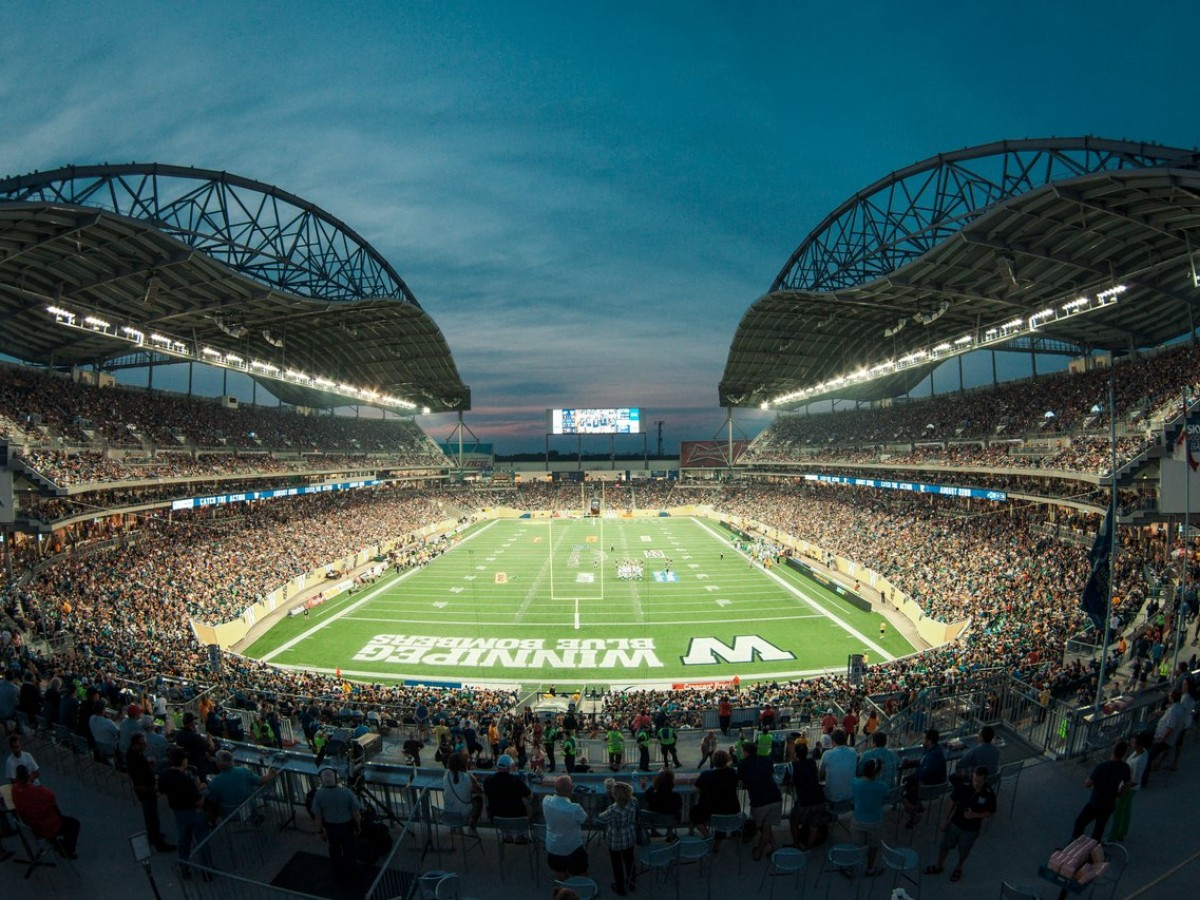 A Winnipeg guide for Packers & Raiders fans when the NFL comes to town - IG Field in all its glory (photo courtesy of the Winnipeg Blue Bombers)